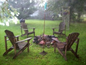 Bonfires at the Cobblestone Bed and Breakfast