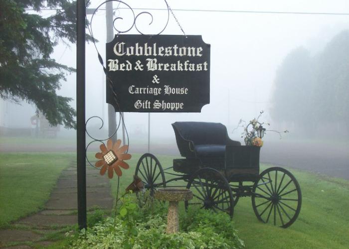 Cobblestone Yard Sign